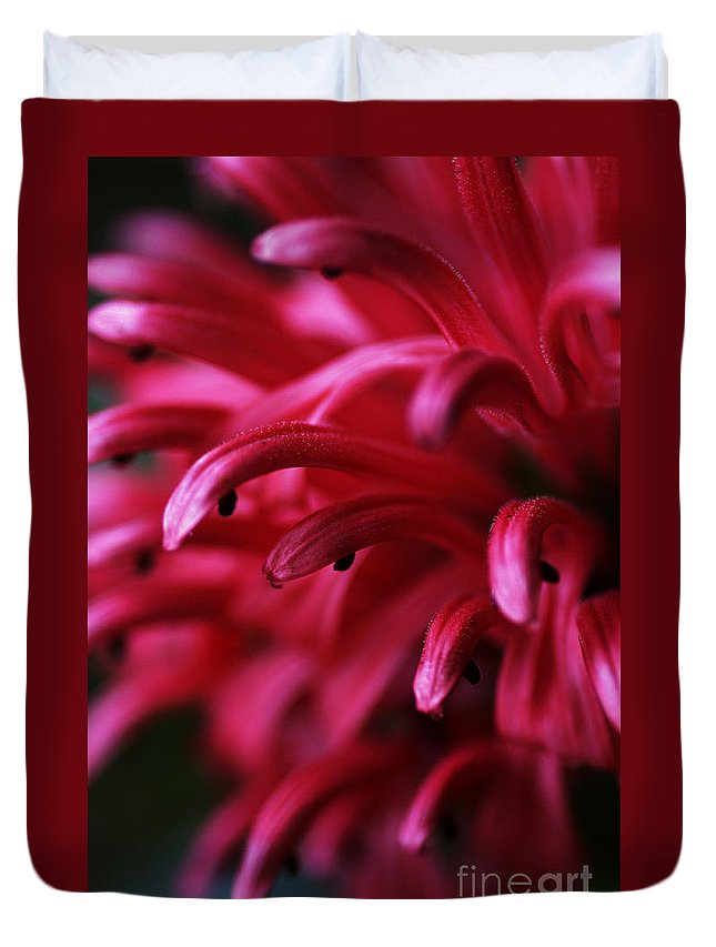 Pink Duvet Cover featuring the photograph Caught In The Dream by Linda Shafer