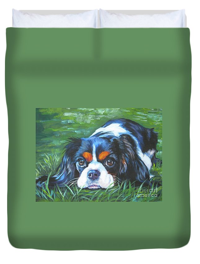 Cavalier King Charles Spaniel Tricolor Duvet Cover For Sale By Lee