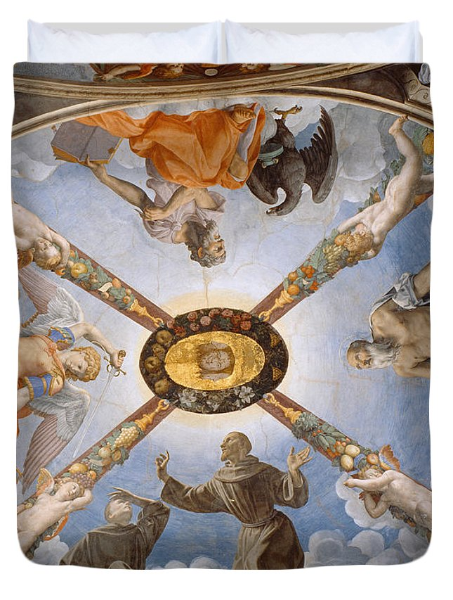 Bronzino Duvet Cover featuring the painting Ceiling Of The Chapel Of Eleonora Of Toledo by Bronzino