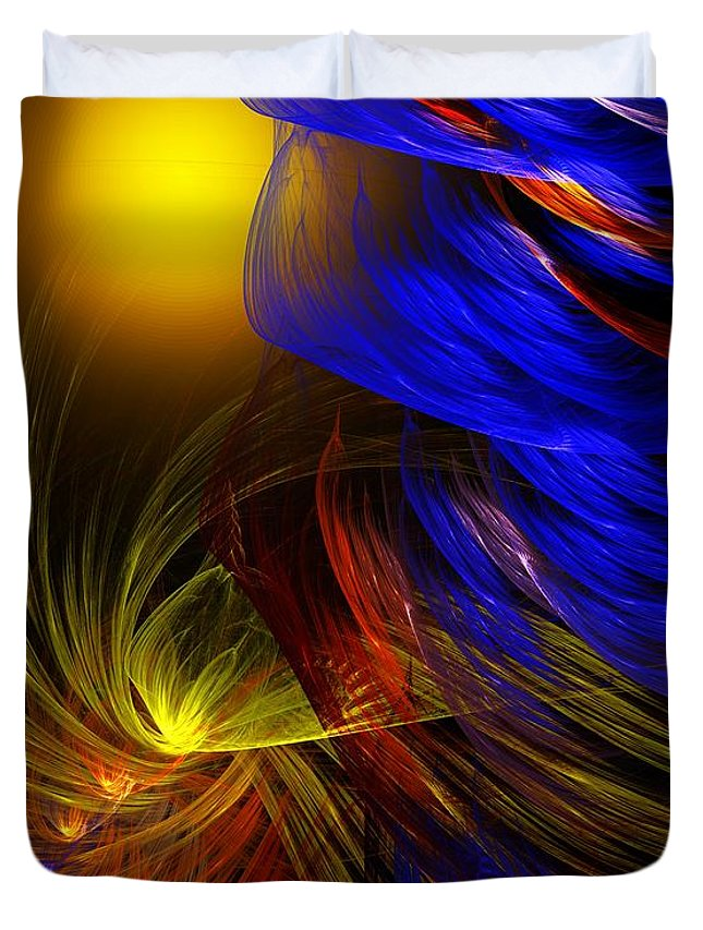 Fine Art Duvet Cover featuring the digital art Celebrate by David Lane