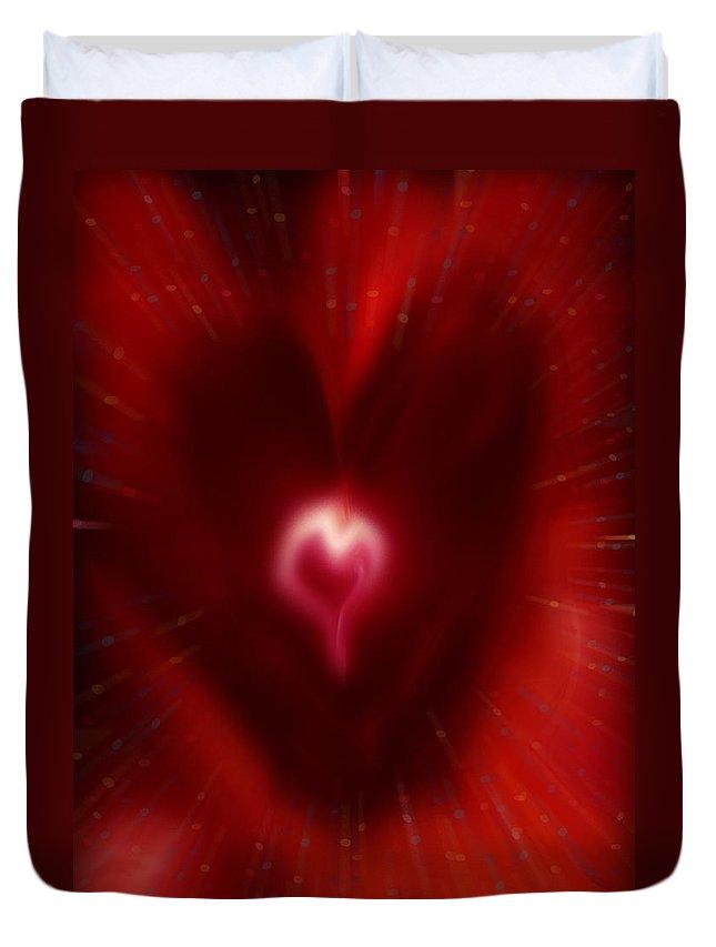 Hearts Duvet Cover featuring the digital art Celebrate Love by Linda Sannuti