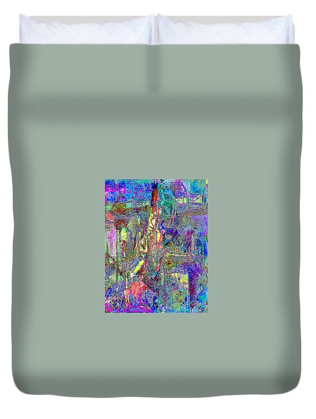 Celebration Duvet Cover featuring the painting Celebrate by Wayne Potrafka