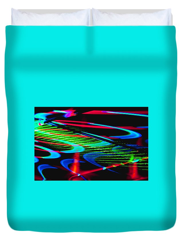 Abstract Duvet Cover featuring the photograph Celebration 10 by Michael Devereux