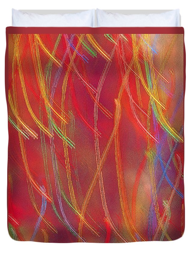 Abstract Duvet Cover featuring the photograph Celebration by Gaby Swanson