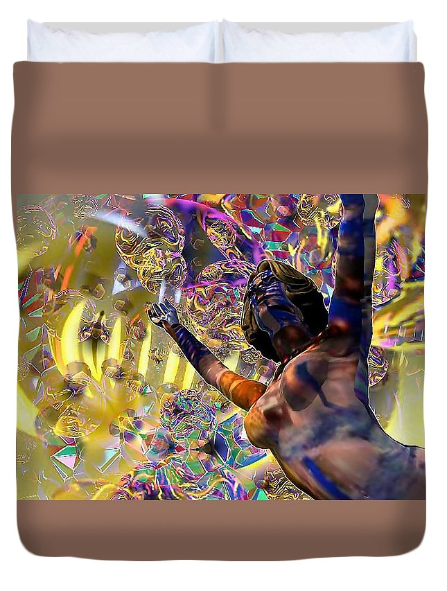 Woman Duvet Cover featuring the digital art Celebration Spirit by Dave Martsolf