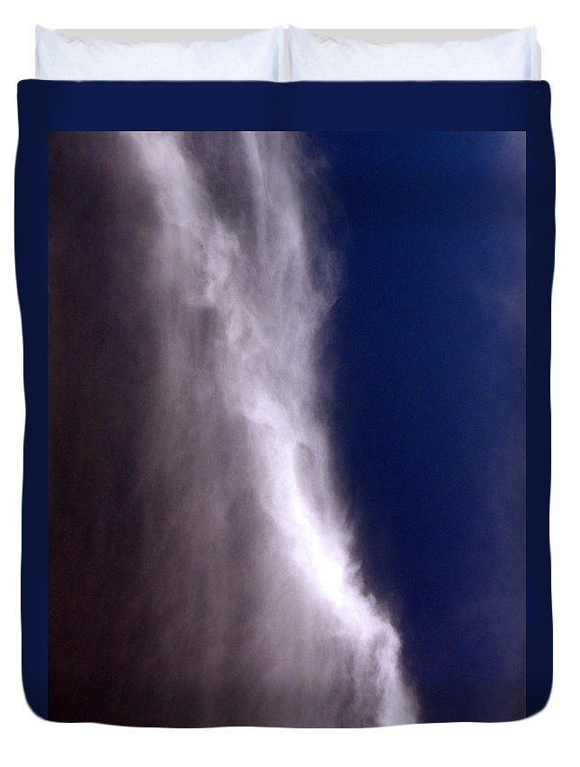 Angels Duvet Cover featuring the photograph Celestial Falls by Albert Stewart