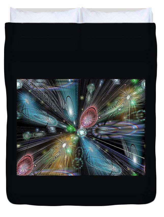 Celestial Duvet Cover featuring the digital art Celestial Vacuum by Tim Allen