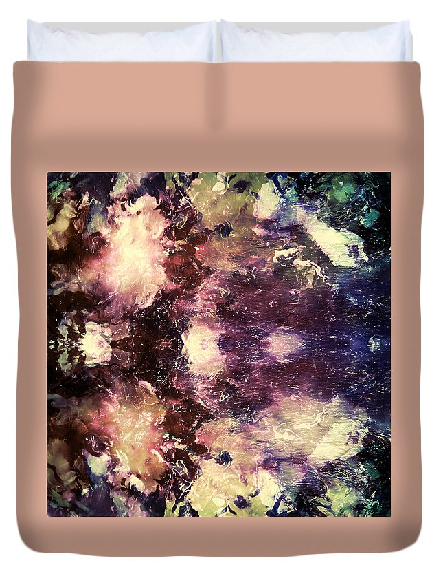 Space Duvet Cover featuring the painting Celestial Xvii by Tina Baxter