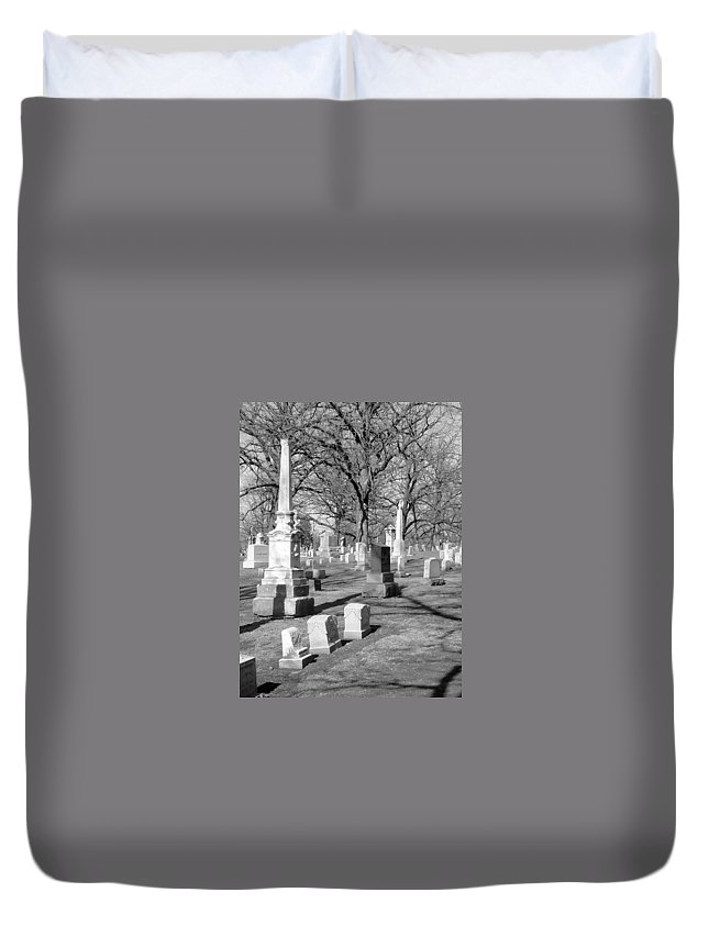 Cemetery Duvet Cover featuring the photograph Cemetery 3 by Anita Burgermeister