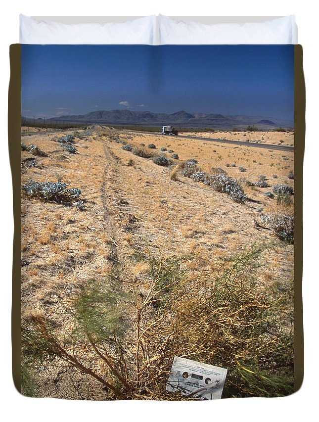 Center Divider Duvet Cover featuring the photograph Center Divider - Hwy 395 by Soli Deo Gloria Wilderness And Wildlife Photography