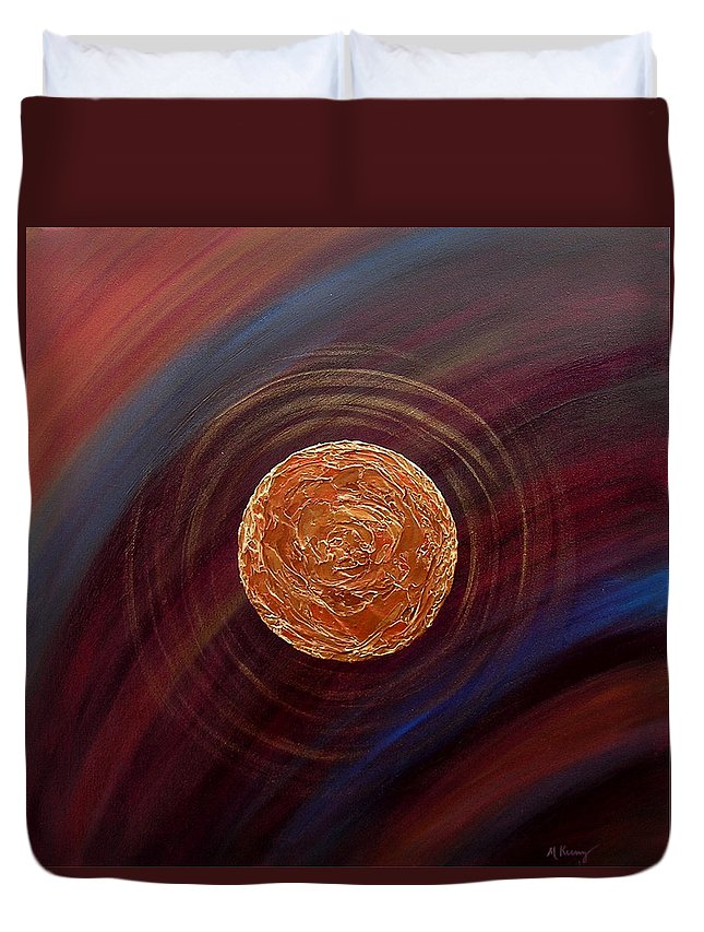 Original Duvet Cover featuring the painting Centered by Melissa Joyfully