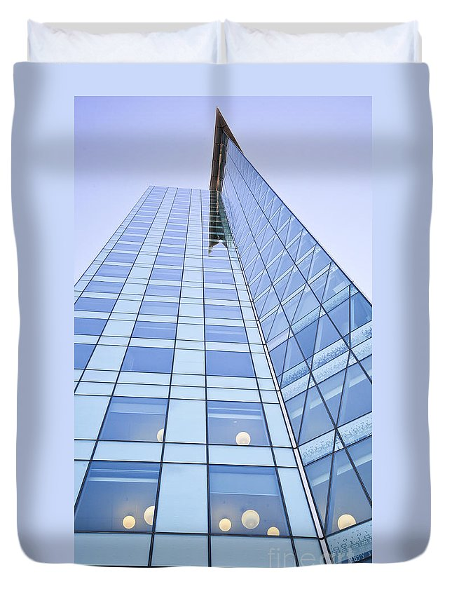 Central City Duvet Cover featuring the photograph Central City by Chris Dutton