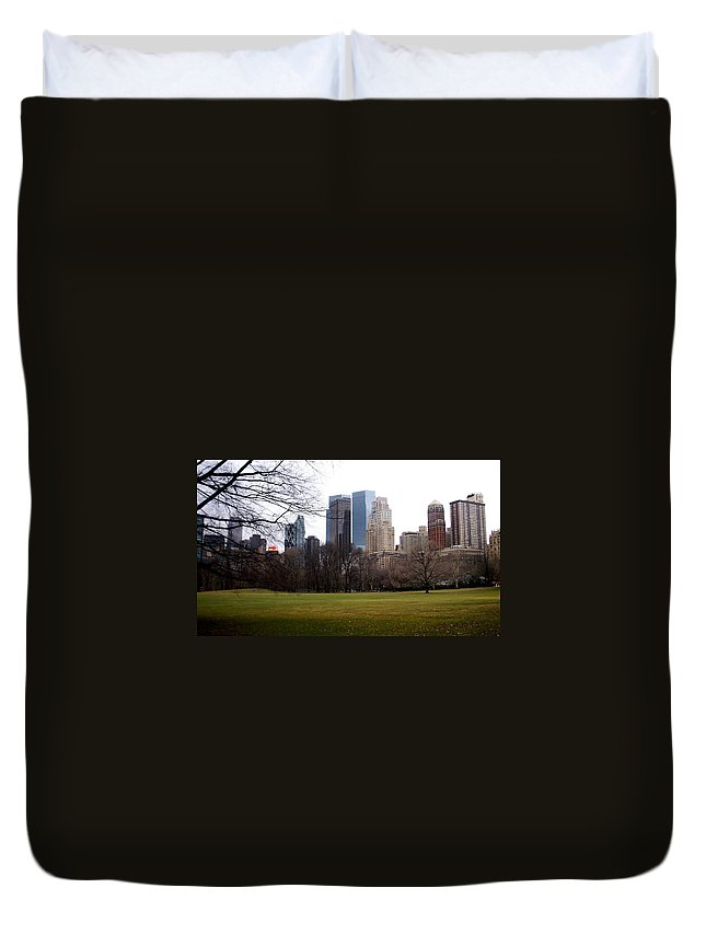 Central Park Duvet Cover featuring the photograph Central Park by Anita Burgermeister