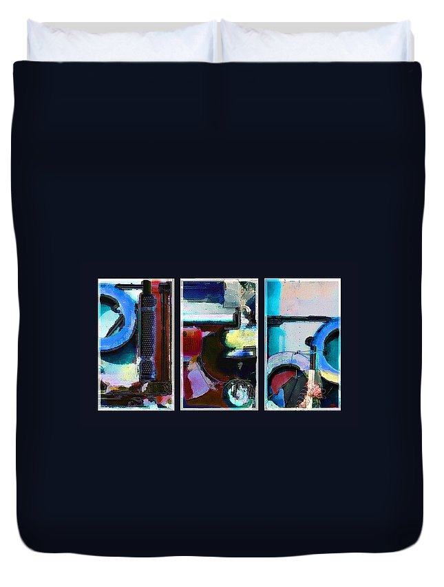 Abstract Duvet Cover featuring the digital art Centrifuge by Steve Karol