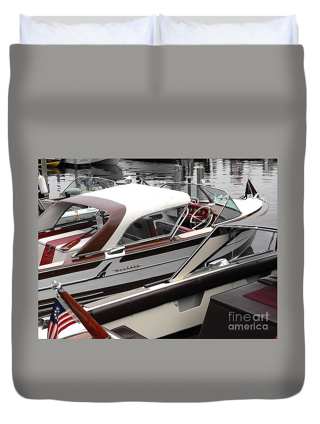 Motorboat Duvet Cover featuring the photograph Century Coronado by Neil Zimmerman