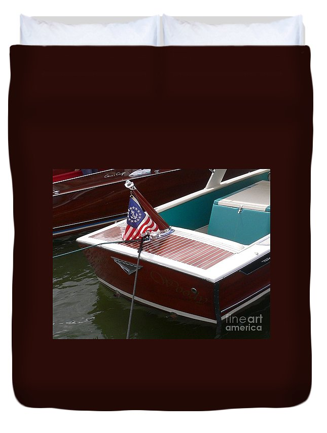 Boat Duvet Cover featuring the photograph Century Coronado by Neil Zimmerman