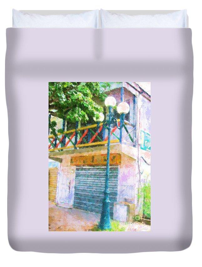 St. Martin Duvet Cover featuring the photograph Cest La Vie by Debbi Granruth