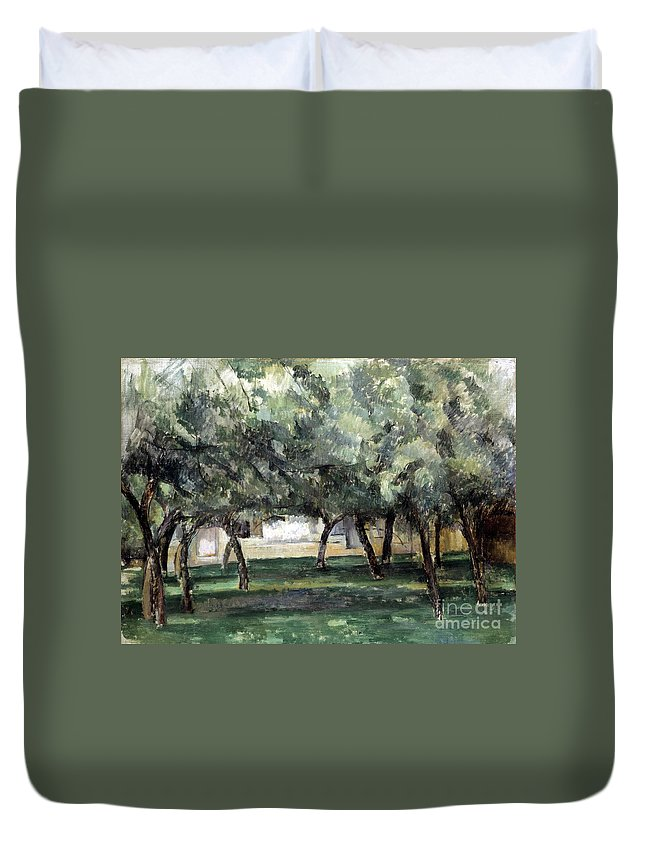 19th Century Duvet Cover featuring the photograph Cezanne: Le Clos Normand by Granger