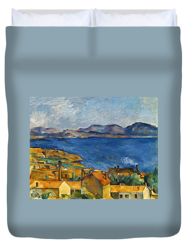 1890 Duvet Cover featuring the photograph Cezanne Marseilles 1886-90 by Granger