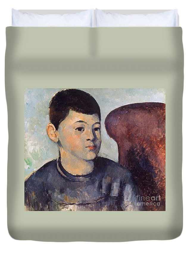19th Century Duvet Cover featuring the photograph Cezanne: Portrait Of Son by Granger