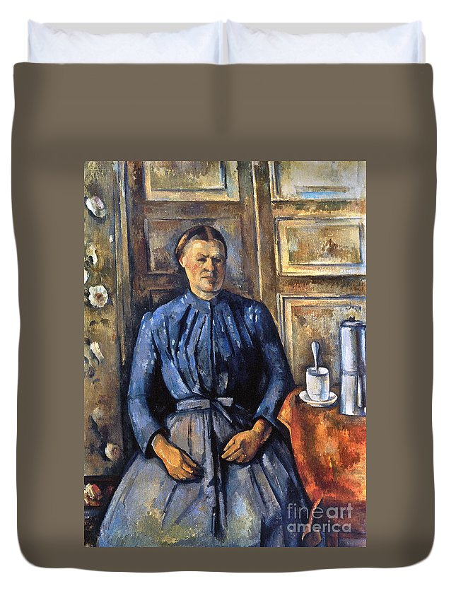 1895 Duvet Cover featuring the photograph Cezanne: Woman, 1890-95 by Granger