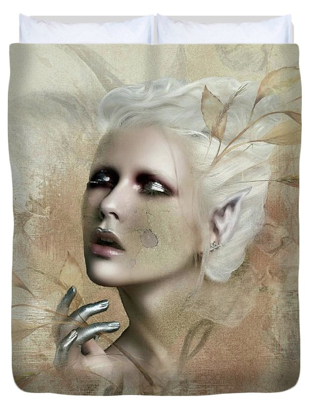 Wheat Duvet Cover featuring the mixed media Free As The Blowing Wind by G Berry