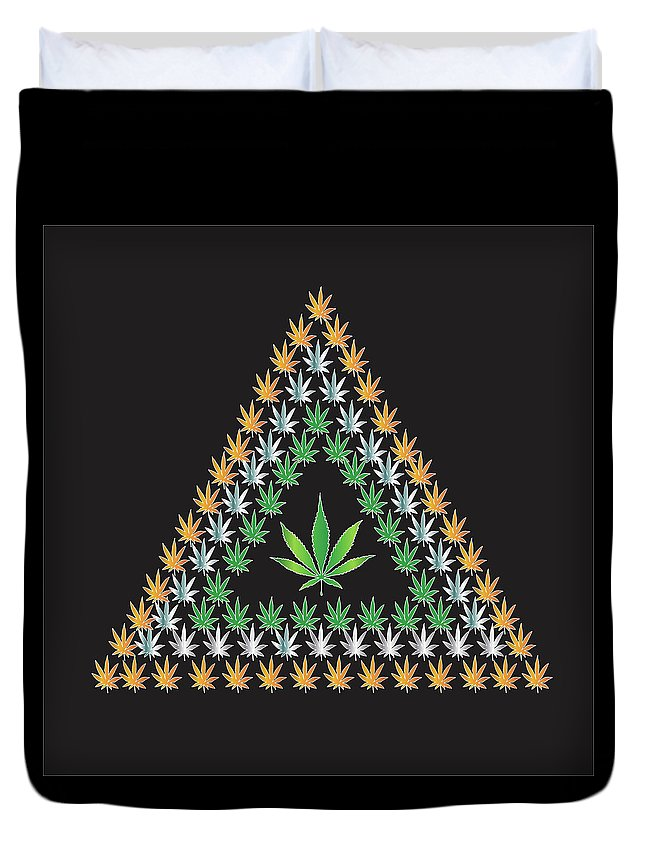 Weed Duvet Cover featuring the digital art CH1 by Larry Waitz