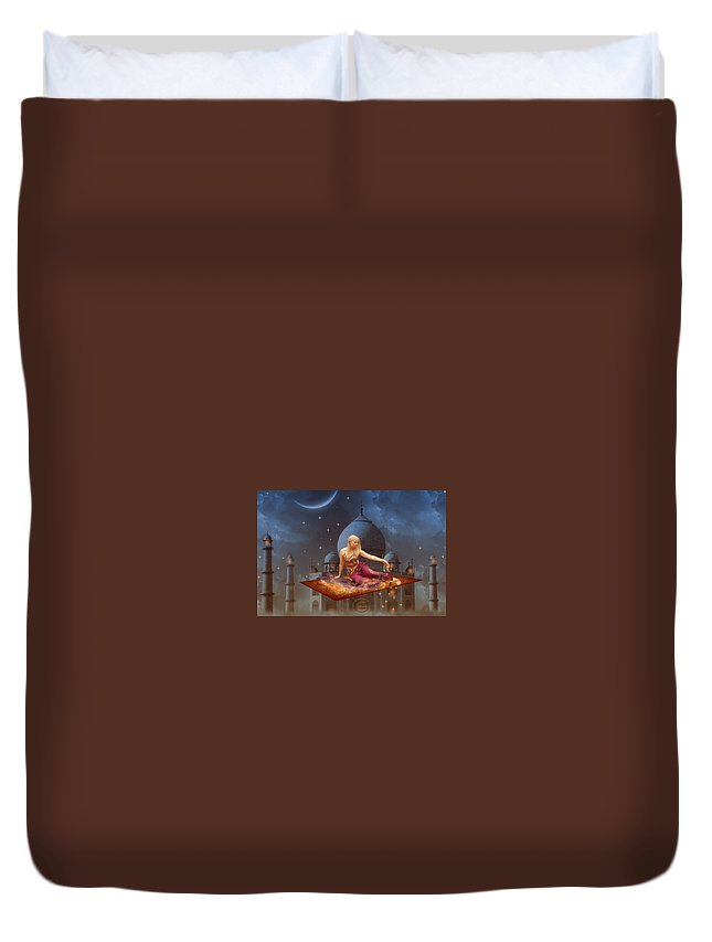 Duvet Cover featuring the digital art Chahrazed by Abdelkader Bouazza