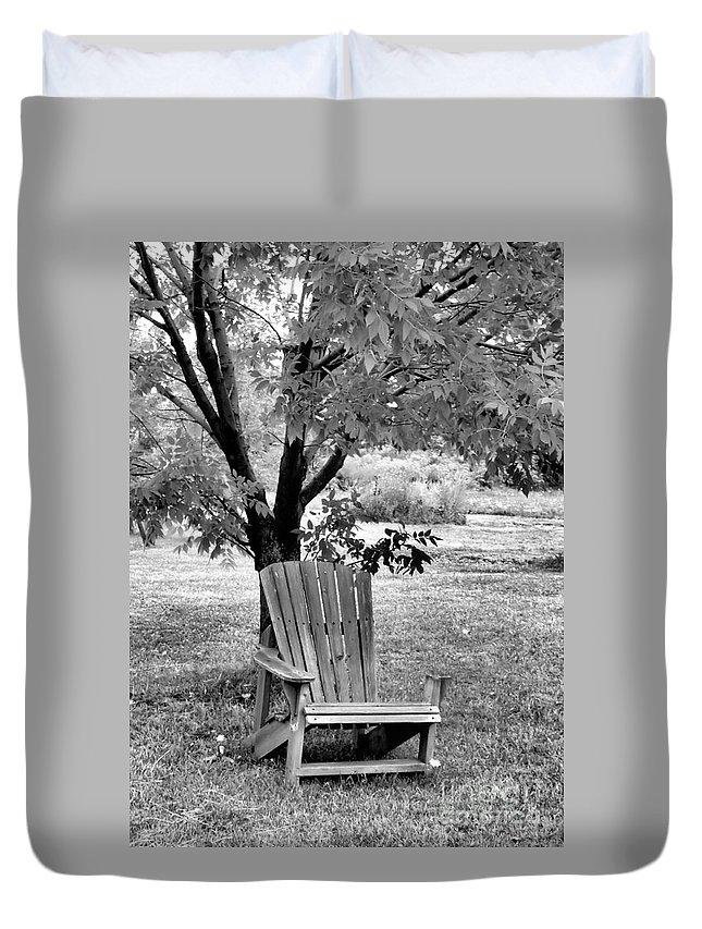 Chair Duvet Cover featuring the photograph Chair by John Krakora