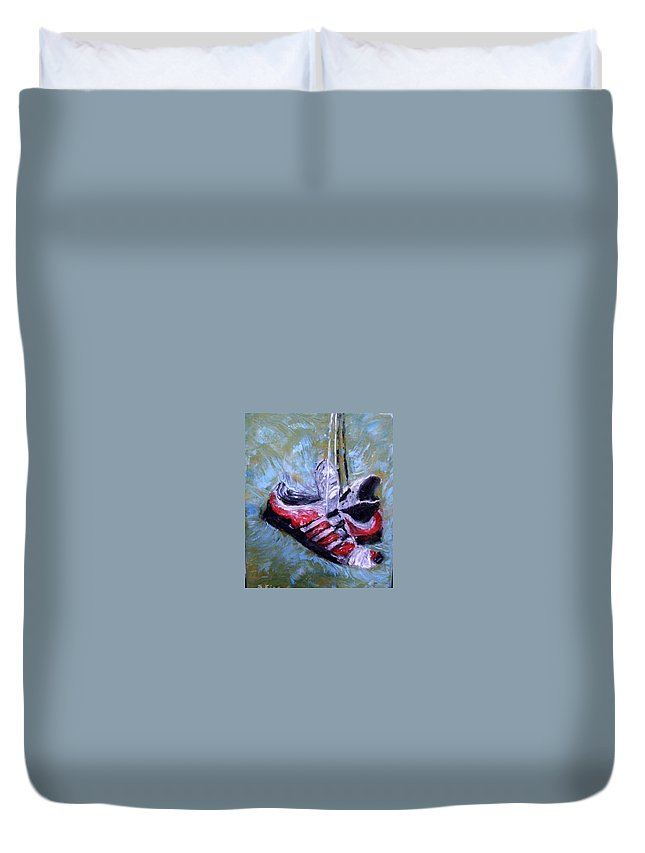 Still Life Duvet Cover featuring the painting Champion by Stephen King