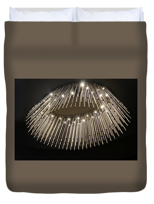 Crystal Duvet Cover featuring the photograph Chandelier by Art Spectrum