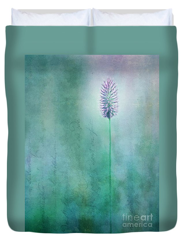 Grass Duvet Cover featuring the photograph Chandelle by Priska Wettstein
