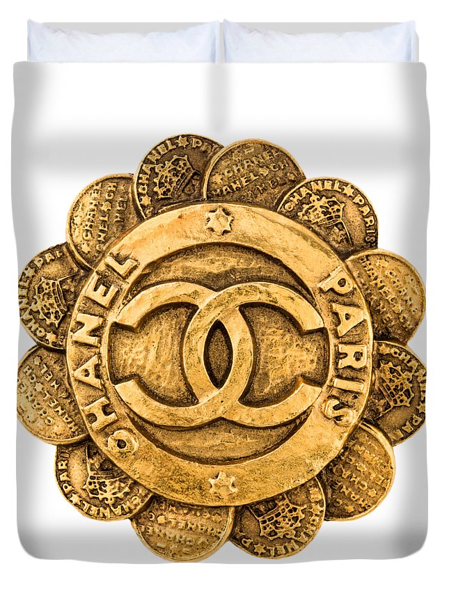 Chanel Duvet Cover featuring the painting Chanel Jewelry-2 by Nikita