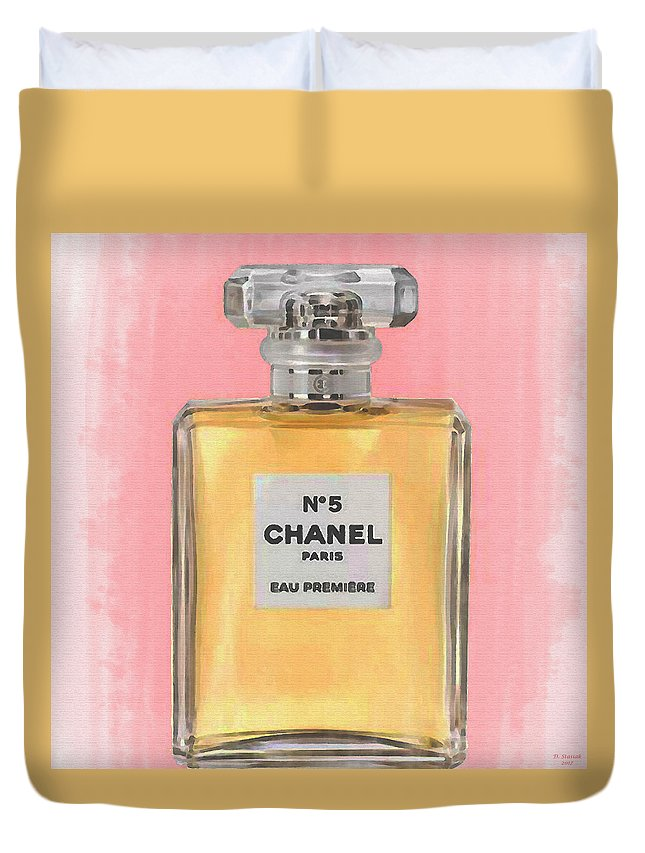 Chanel No 5 Eau De Parfum Duvet Cover For Sale By David Stasiak