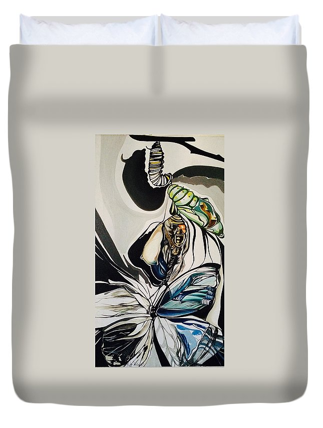 Change Duvet Cover featuring the painting Change by Ruby Vartan