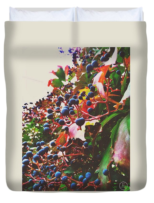 Leafs Duvet Cover featuring the photograph Changing Colors by Kora Cheyenne Milligan
