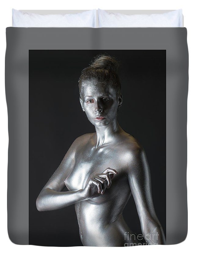 Body Painting Duvet Cover featuring the photograph Chantal by Robert McAlpine