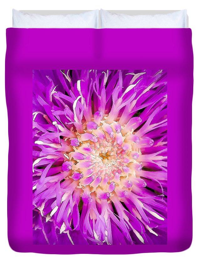 Flower Duvet Cover featuring the digital art Chantilly Lace by Janet Fikar