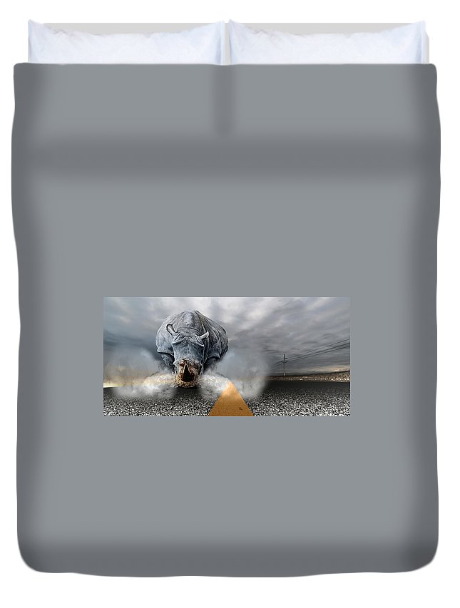 Chaos Artwork Photoshop Duvet Cover featuring the digital art Chaos by Alex Grichenko