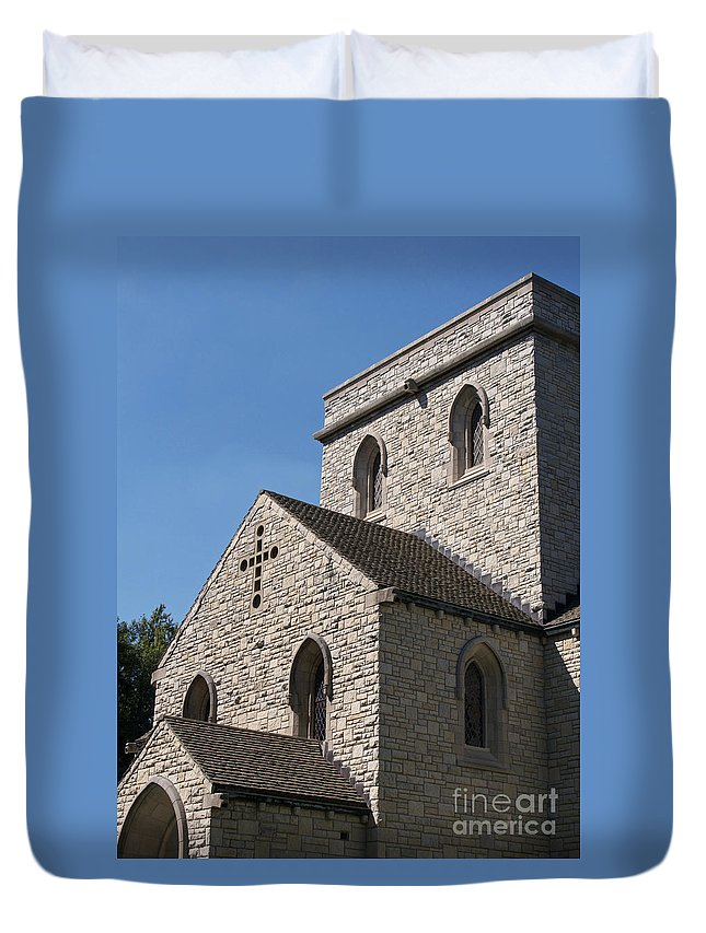 Chapel Duvet Cover featuring the photograph Chapel by Ann Horn