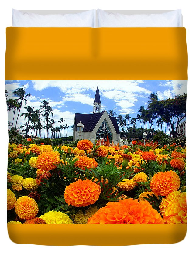 Duvet Cover featuring the photograph Chapel In The Sky by Todd Hummel