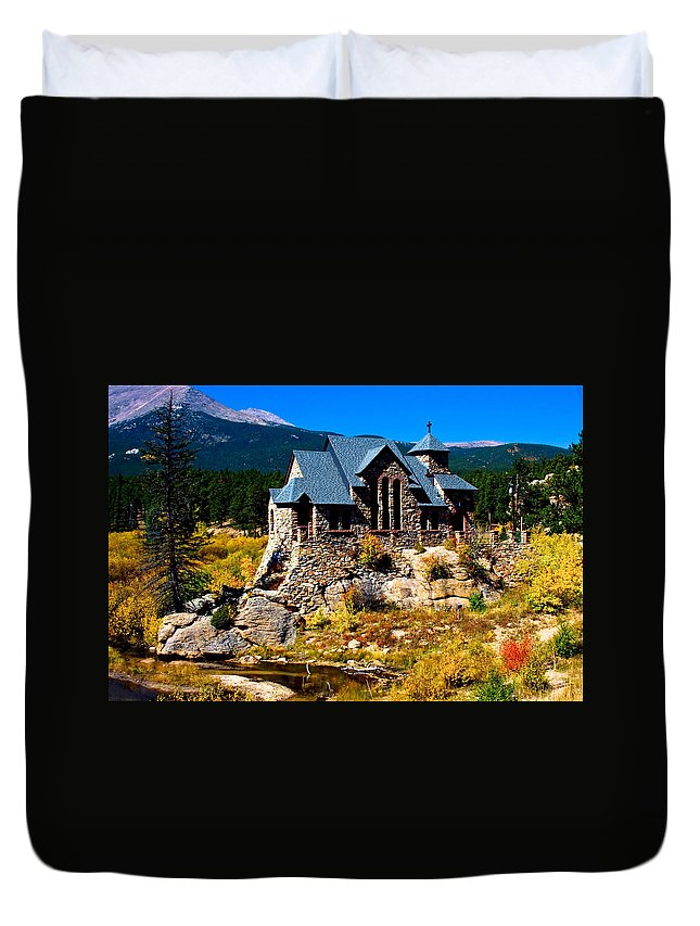 Chapel On The Rock Duvet Cover featuring the photograph Chapel On The Rock by James BO Insogna