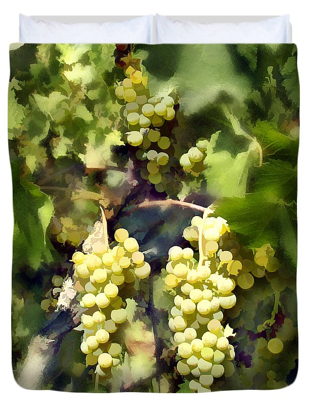 Chardonnay Duvet Cover featuring the photograph Chardonnay by Kurt Van Wagner