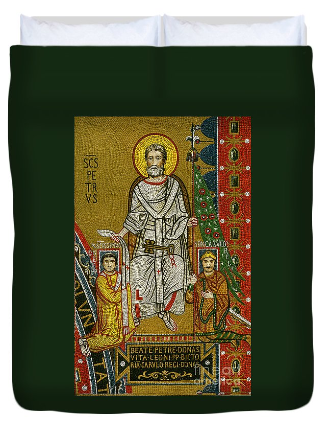 8th Century Duvet Cover featuring the painting Charlemagne (742-814) by Granger