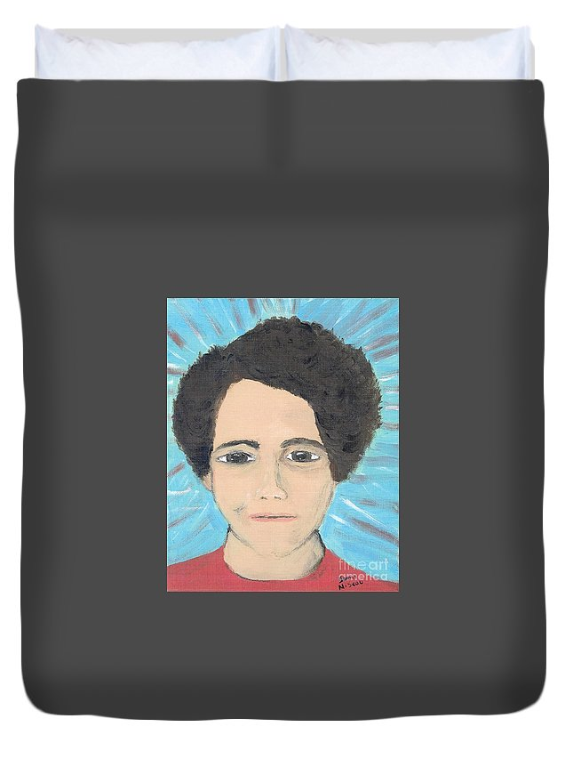 Charlene Duvet Cover featuring the painting Charlene by Seaux-N-Seau Soileau