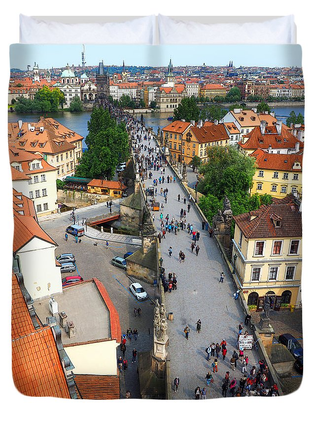 Charles Bridge Duvet Cover featuring the photograph Charles Bridge by C H Apperson