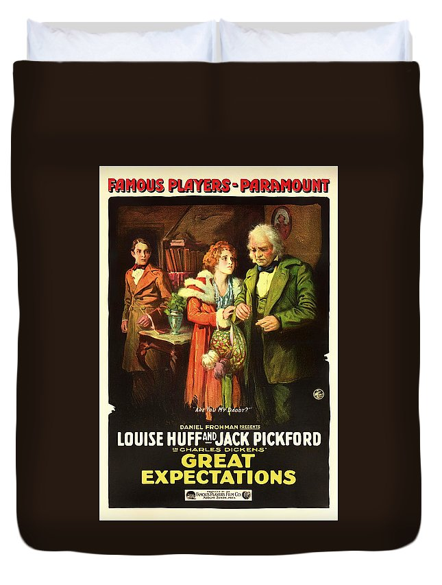 Movie Duvet Cover featuring the mixed media Charles Dickens' Great Expectations 1917 by Mountain Dreams