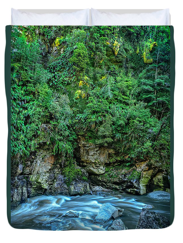 New Zealand Duvet Cover featuring the photograph Charming Creek Walkway 2 by Robert Green