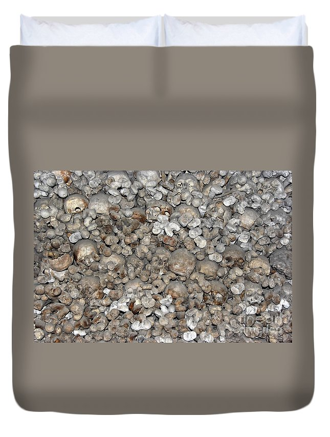 Charnel House Duvet Cover featuring the photograph Charnel House by Michal Boubin