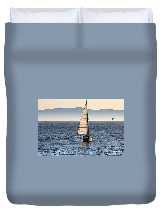 Clay Duvet Cover featuring the photograph Chasing The Mist by Clayton Bruster